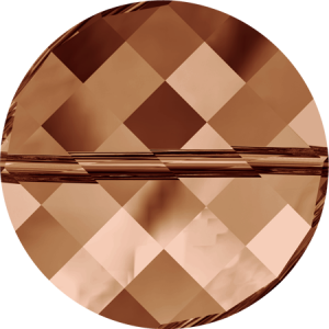 SWAROVSKI 5621 14mm Twist Perle Copper
