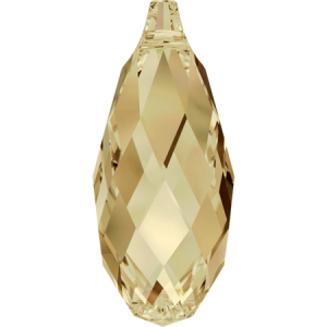 SWAROVSKI 6010 11mm Briolette Golden Shadow