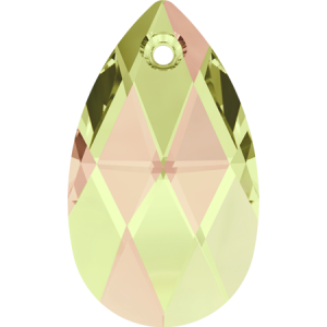 SWAROVSKI 6106 16mm Pear Pendant Crystal Luminous Green