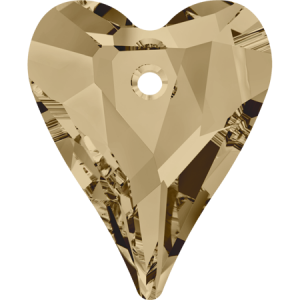 SWAROVSKI 6240 12mm Wild Heart Pendant Golden Shadow