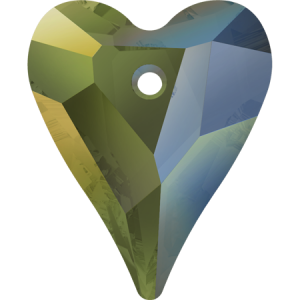SWAROVSKI 6240 12mm Wild Heart Pendant de Iridescent Green