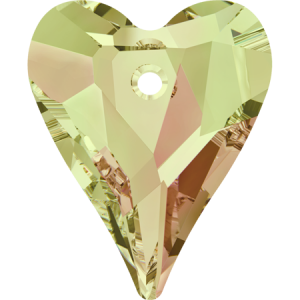 SWAROVSKI 6240 12mm Wild Heart Pendant Luminous Green