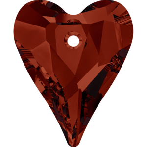 SWAROVSKI 6240 12mm Wild Heart Pendant Red Magma