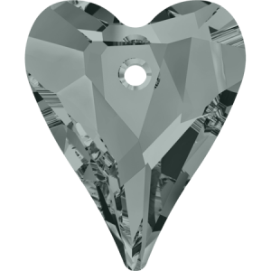 SWAROVSKI 6240 12mm Wild Heart Pendant Black Diamond