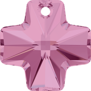 SWAROVSKI 6866 20mm Kreuz Anhänger Light Rose