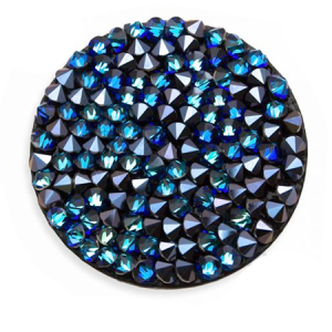 SWAROVSKI® 72013 Crystal Rocks 15mm Blue Blacklized