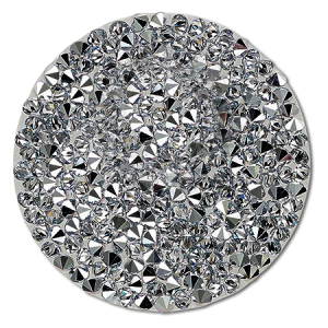 SWAROVSKI® 72013 Crystal Rocks 15mm Dark Comet Argent Light