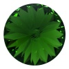 SWAROVSKI ELEMENTS 1122 14mm Rivoli Dark Moss Green