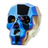 SWAROVSKI ELEMENTS 5750 13mm Totenkopf Perle Metallic Blue 2x