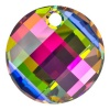 SWAROVSKI ELEMENTS 6621 18mm Twist Anhänger Crystal Vitrail Medium