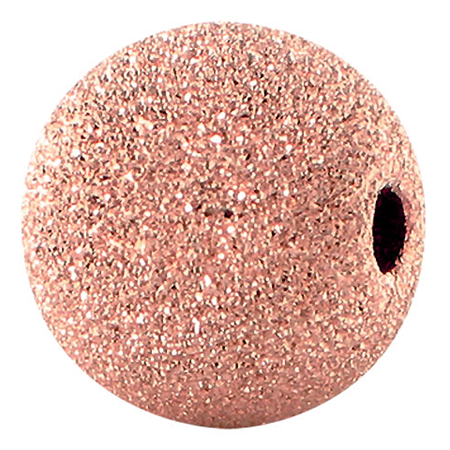 Diamantperle 6mm Rose Gold