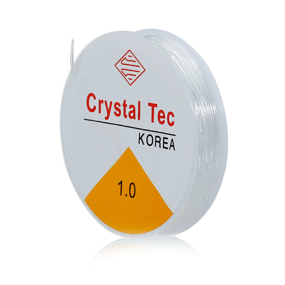 Crystal Tec Stretchgummi 1mm Transparent