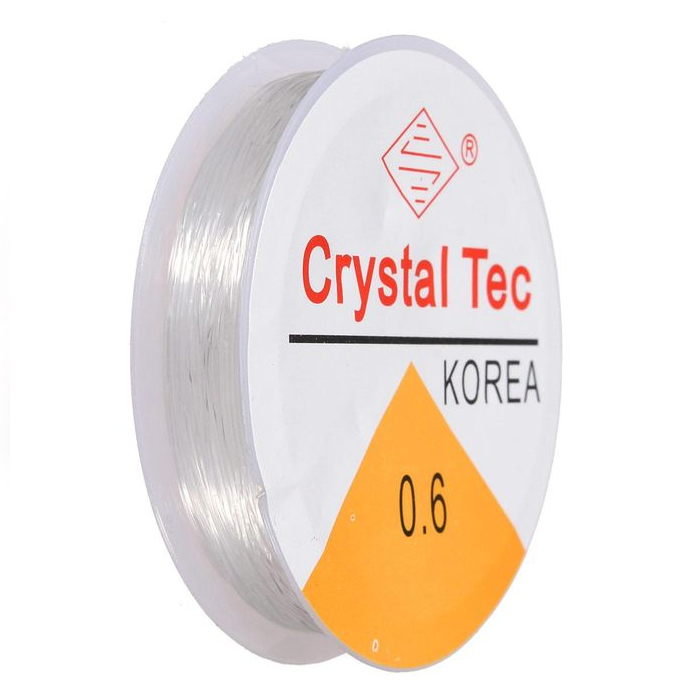 Crystal Tec Stretchgummi 0.6mm Transparent