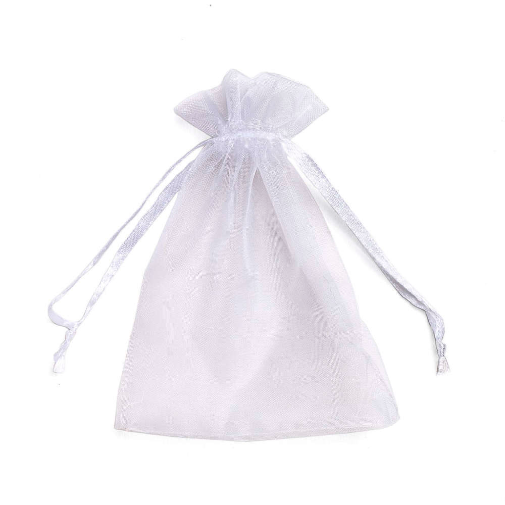 Organza Jewelry Gift Bag 9 x 12cm White