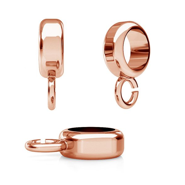 925 Silver Rose Gold Plated Ball Bead Carrier Spacer For Making Bracelet Charm