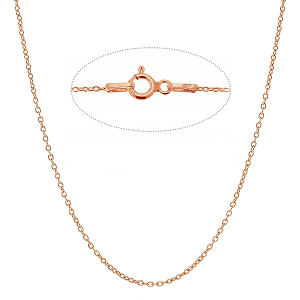 Cable Chain With Spring Ring Clasp Sterling Silver Gold plated