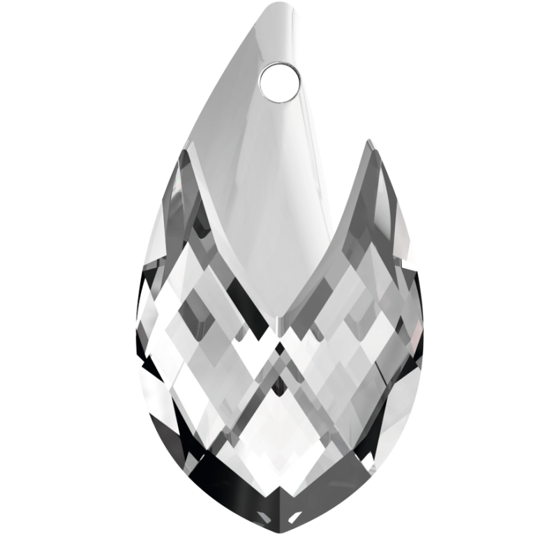 SWAROVSKI 6565 18mm Tropfen Anhänger Crystal Light Chrome