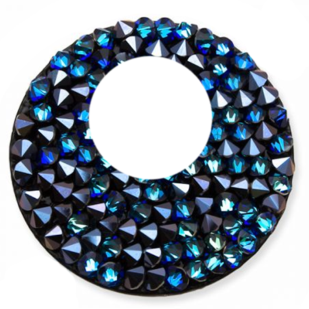 SWAROVSKI® 72020 Crystal Rocks 24mm Bermuda Blue